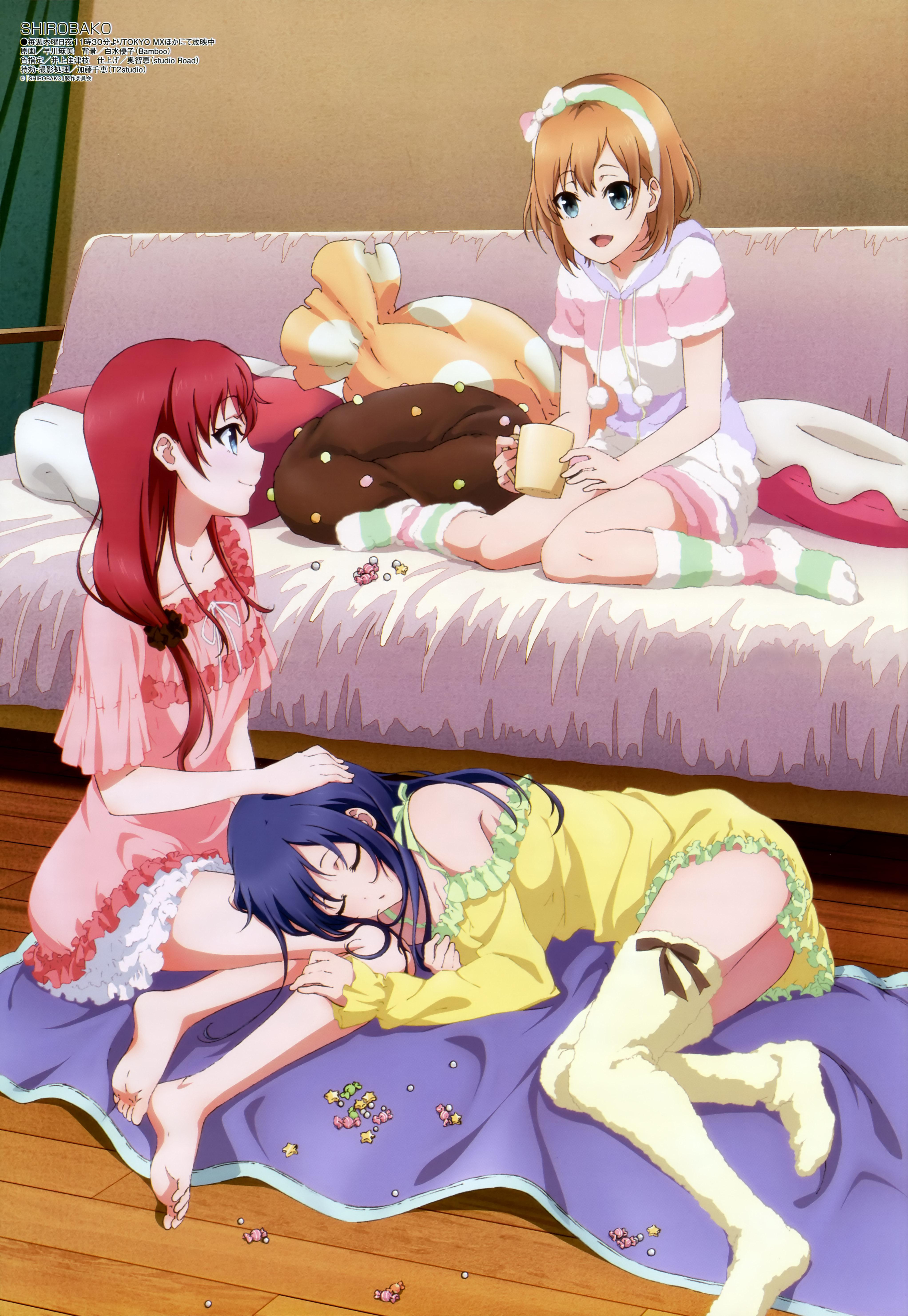 Megami MAGAZINE March 2015 anime posters Haruhichan.com shirobako poster