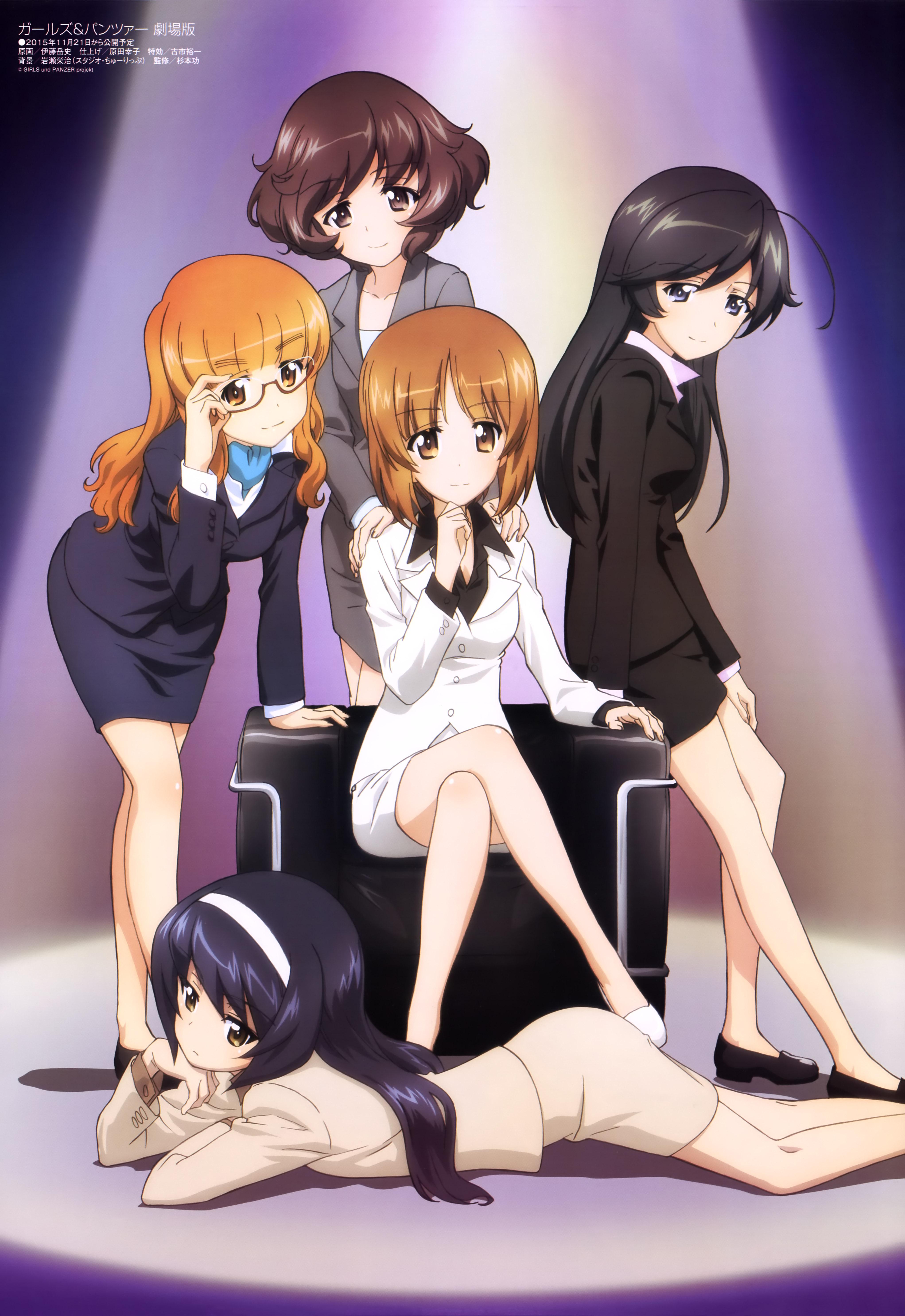 Megami MAGAZINE May 2015 anime posters girls und panzer akiyama yukari isuzu hana nishizumi miho reizei mako takebe saori poster