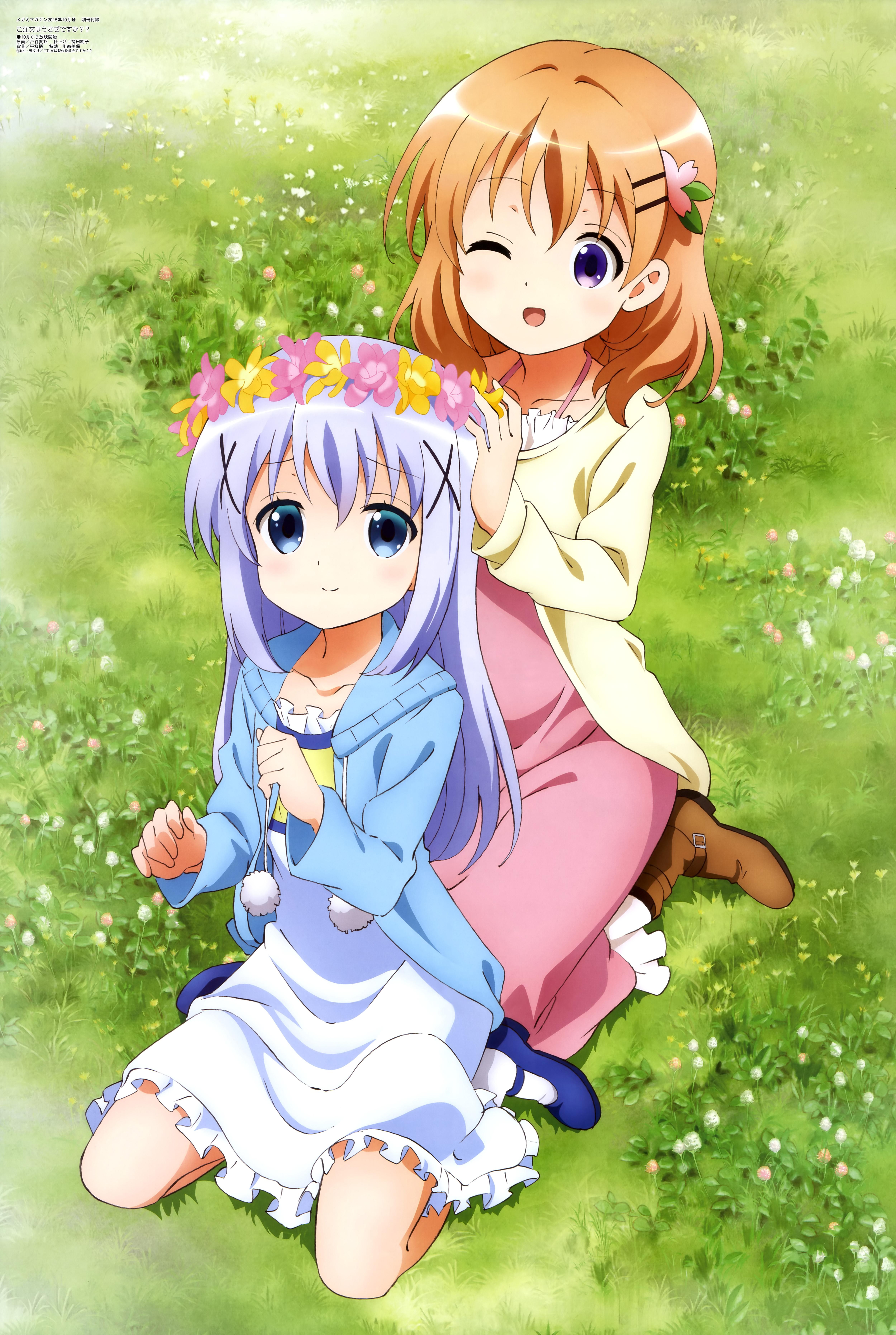Megami-Magazine-October-anime-posters-gochuumon wa usagi desu ka