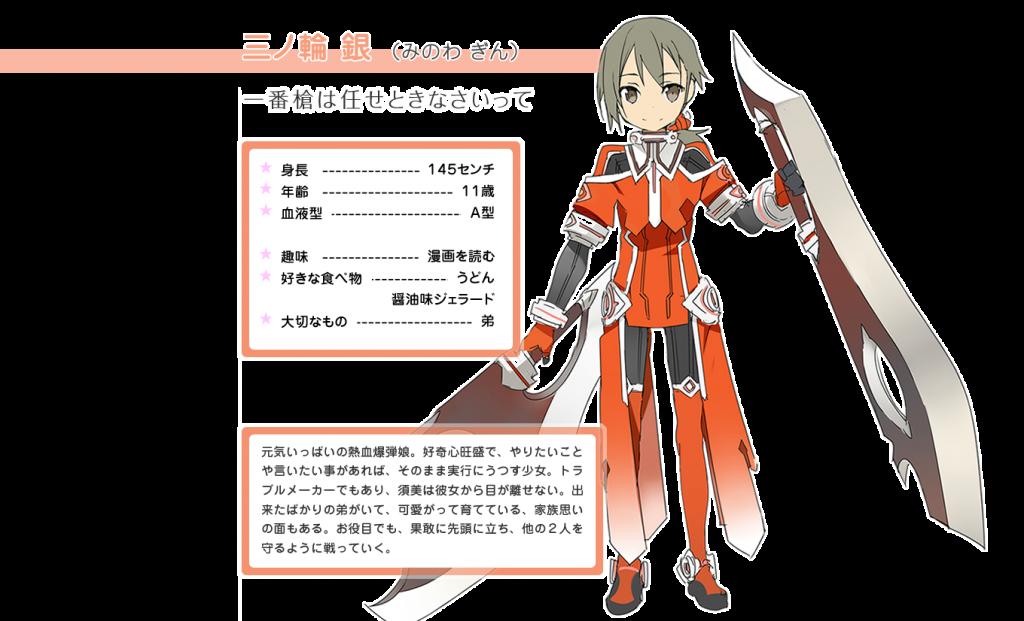 Minowa Gin Yuuki Yuuna Wa Yuusha De Aru anime character designs
