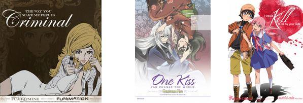 Mirai Nikki Fujiko Mine One Kiss  Valentines Card