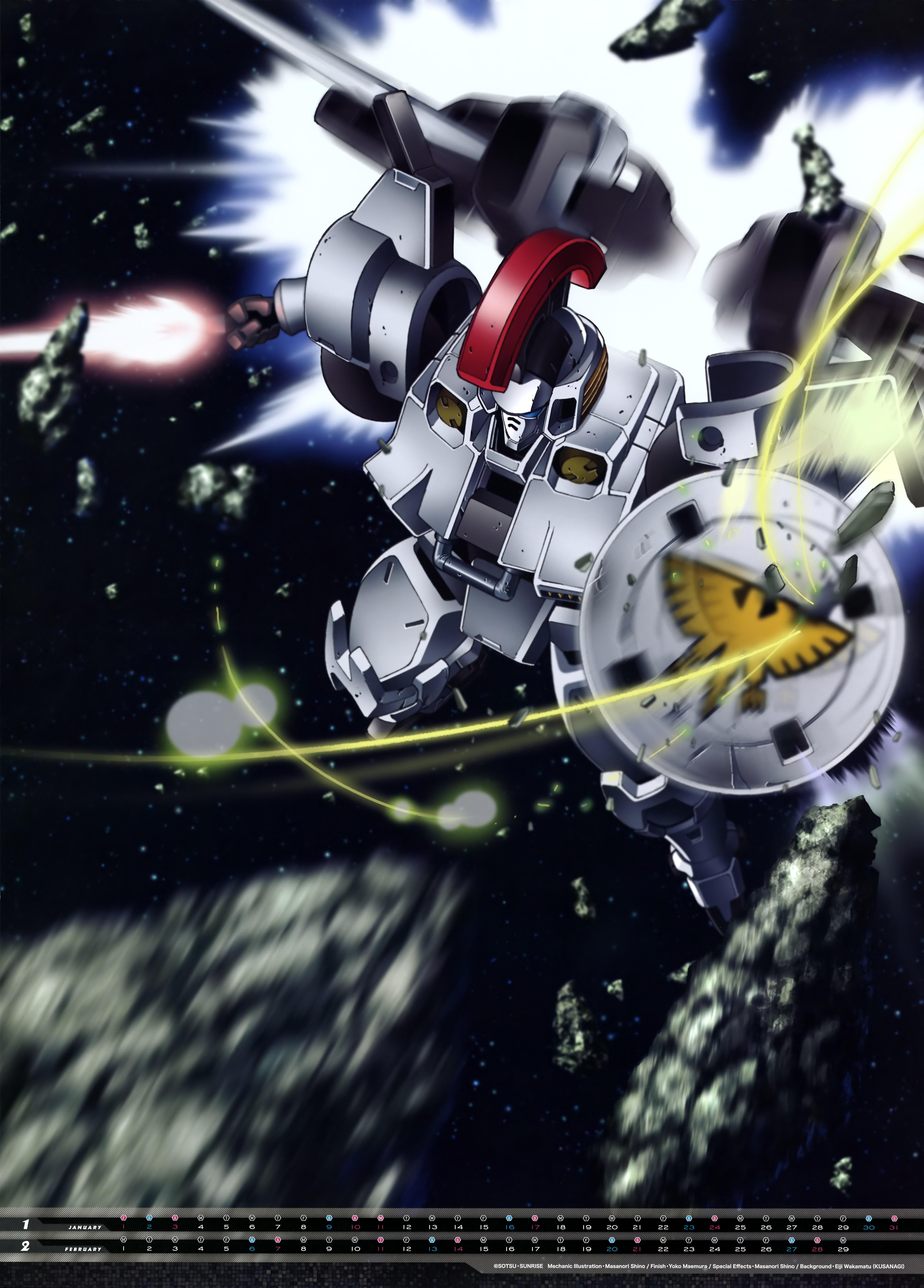 Mobile Suit Gundam Series anime Calendar 2016 0002
