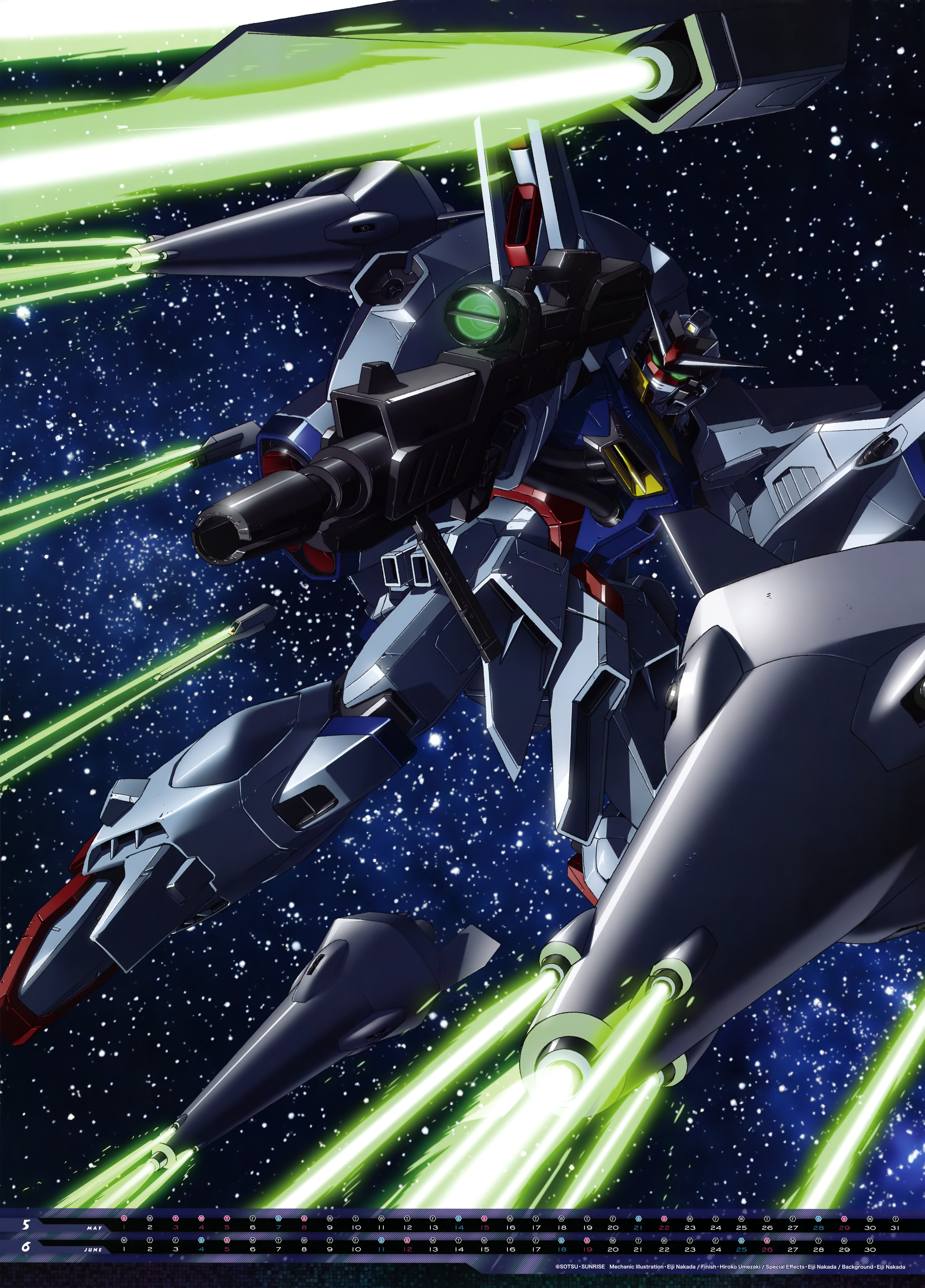 Mobile Suit Gundam Series anime Calendar 2016 0004