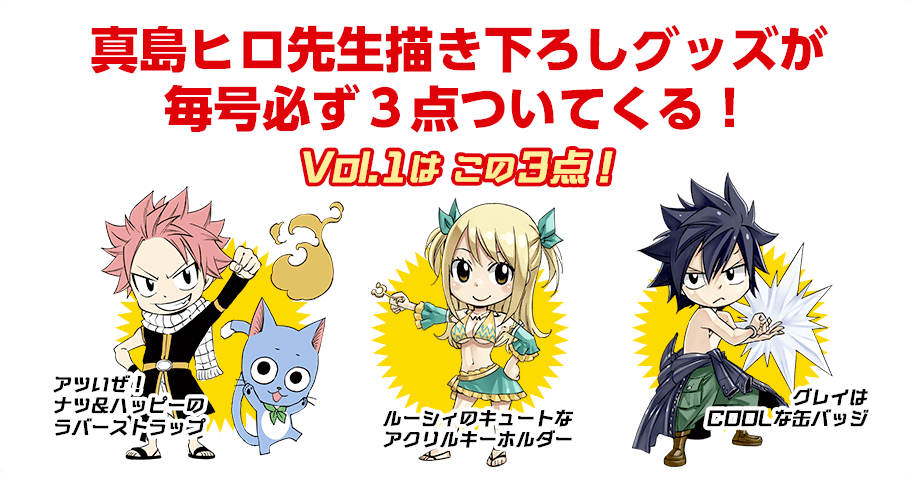 Monthly Fairy Tail Collection First Issue Merch