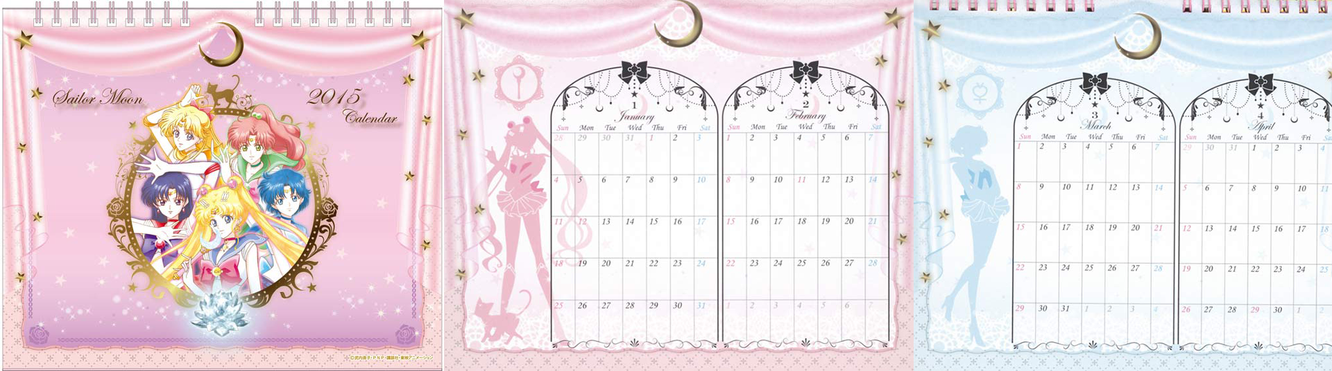 Most Wished for 2015 Anime Calendars haruhichan.com Sailor Moon Crystal calendar