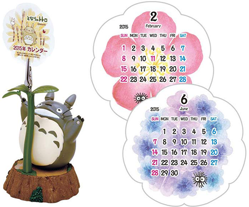 Most Wished for 2015 Anime Calendars haruhichan.com Totoro Okiku Nare calendar