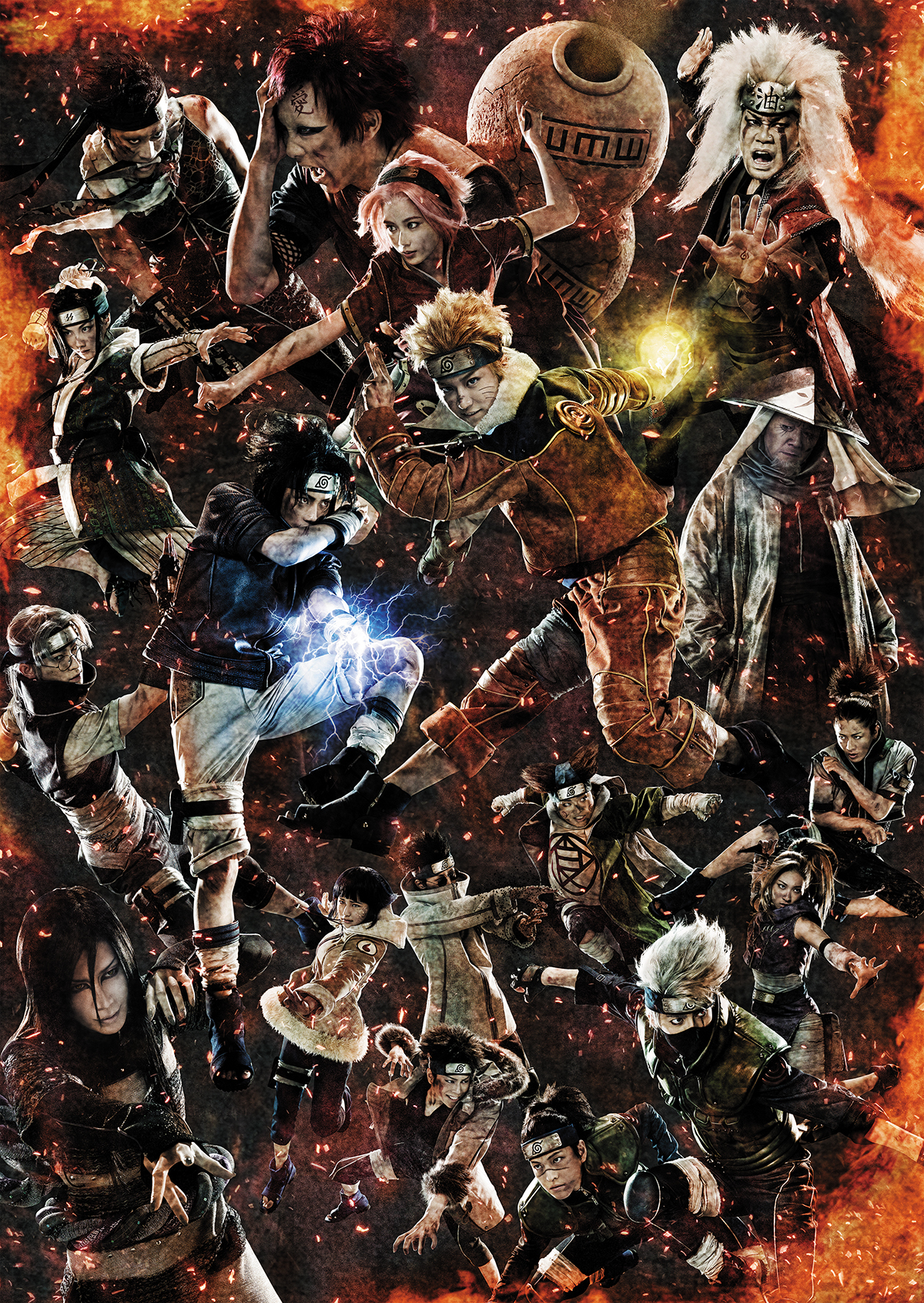 Naruto Stage Musical Visual Includes All 18 Characters haruhichan.com naruto musical visual