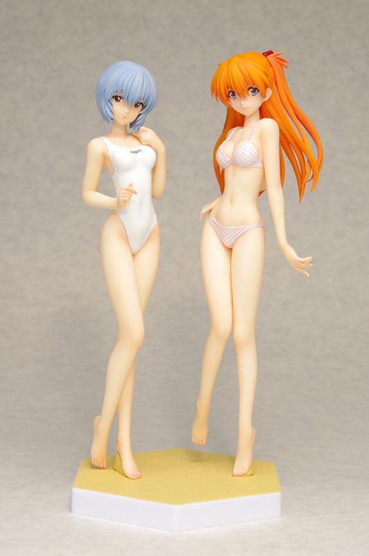 Neon Genesis Evangelion BEACH QUEENS Rei Ayanami and Asuka Langley Soryu Comic Ver. Set anime Figures 002