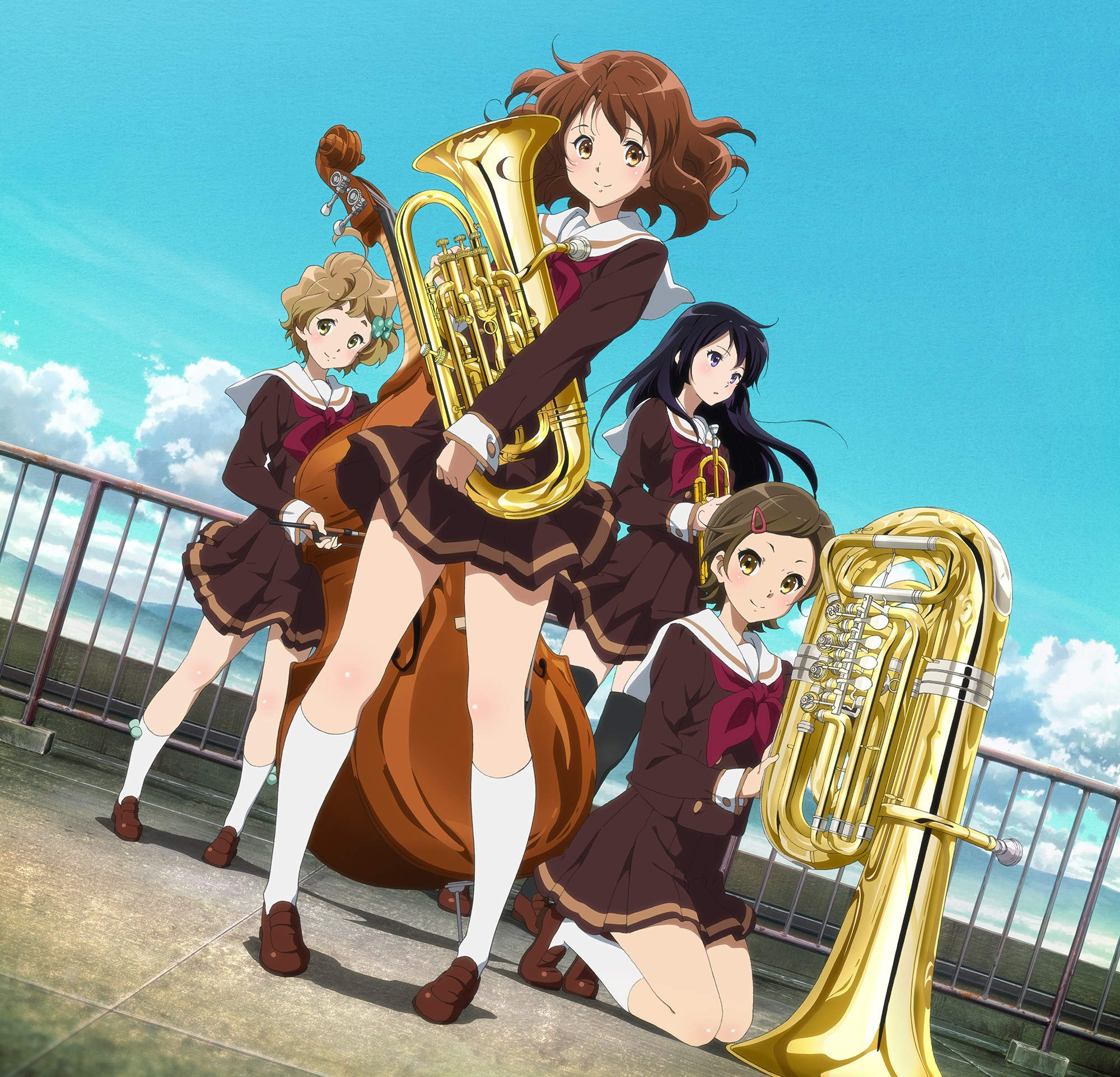 New Visual Revealed for Kyoto Animation's Sound! Euphonium Anime haruhichan.com Hibike! Euphonium anime visual