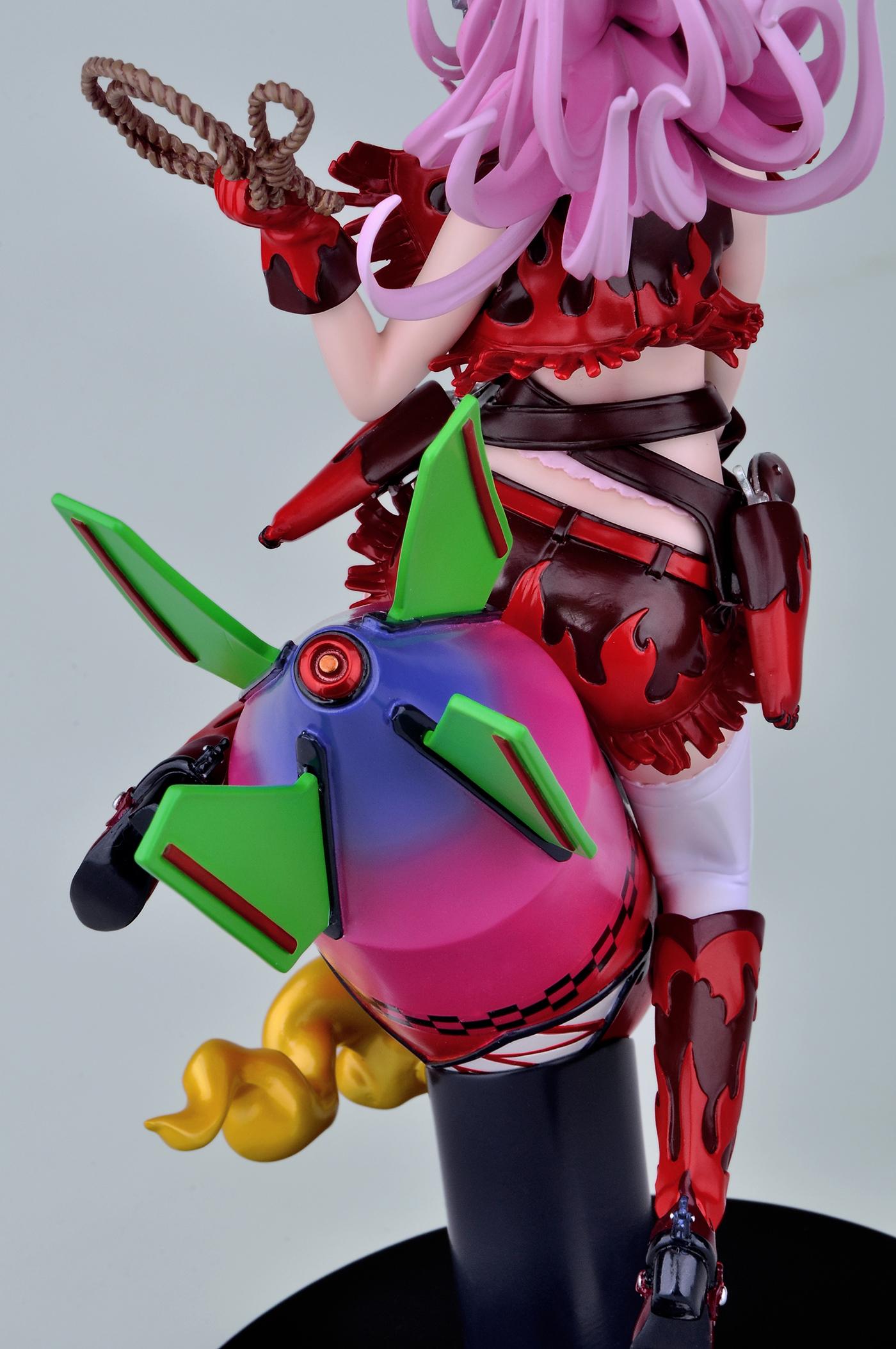Nitroplus' Mascot Rides a Giant Rocket haruhichan.com Super Sonico rocket figure02