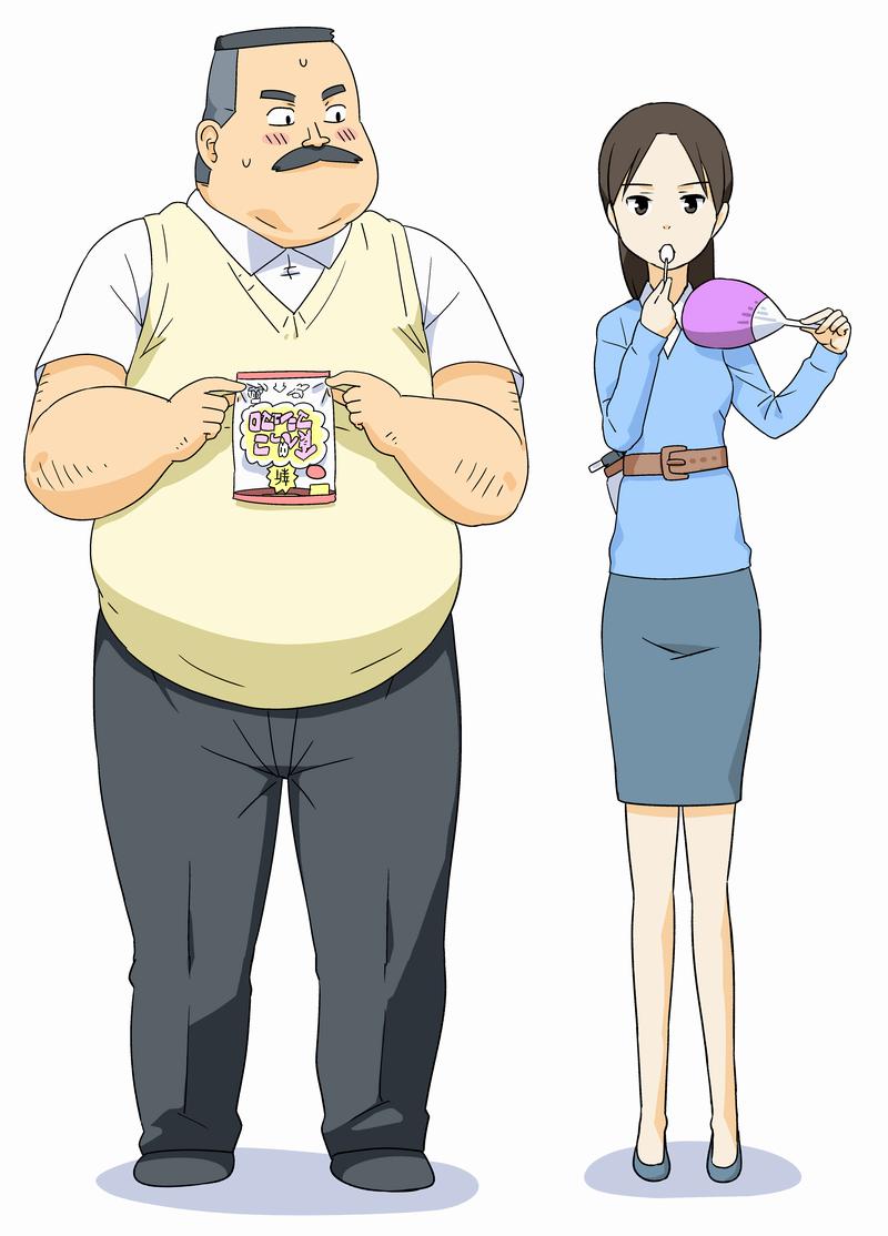 Ojisan and Marshmallow anime visual
