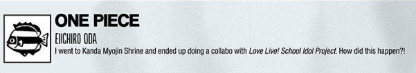 One Piece Author Teases at Love Live! Collaboration english