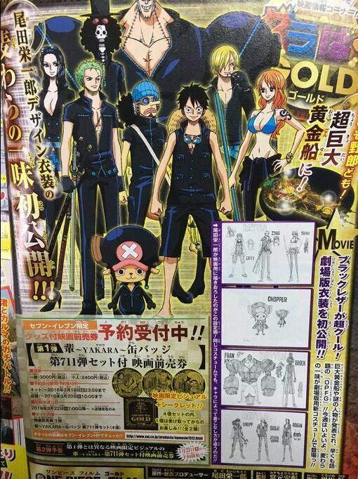 One Piece Film Gold Straw Hats Character Designs Spotted 1