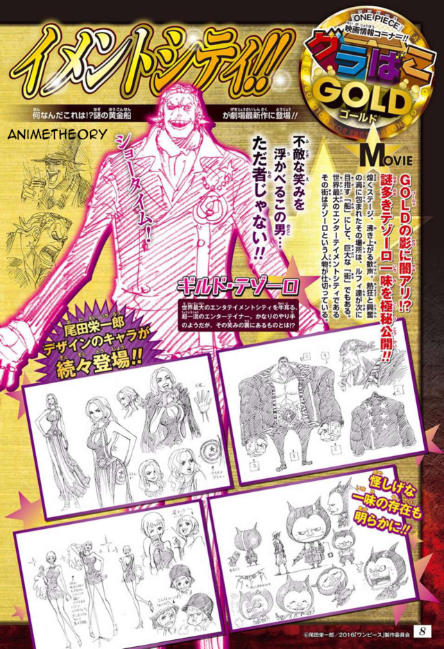 One Piece Film Gold Straw Hats Character Designs Spotted 2