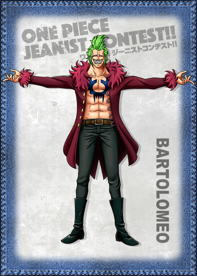 One Piece Jeanist Contest Goes Live Character Design bartolomeo