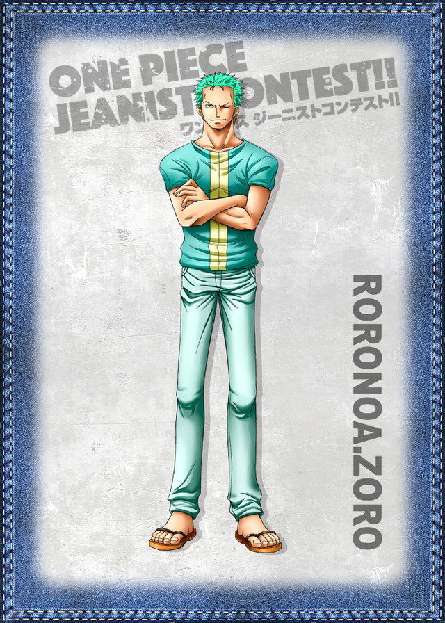 One Piece Jeanist Contest Goes Live Character Design zoro