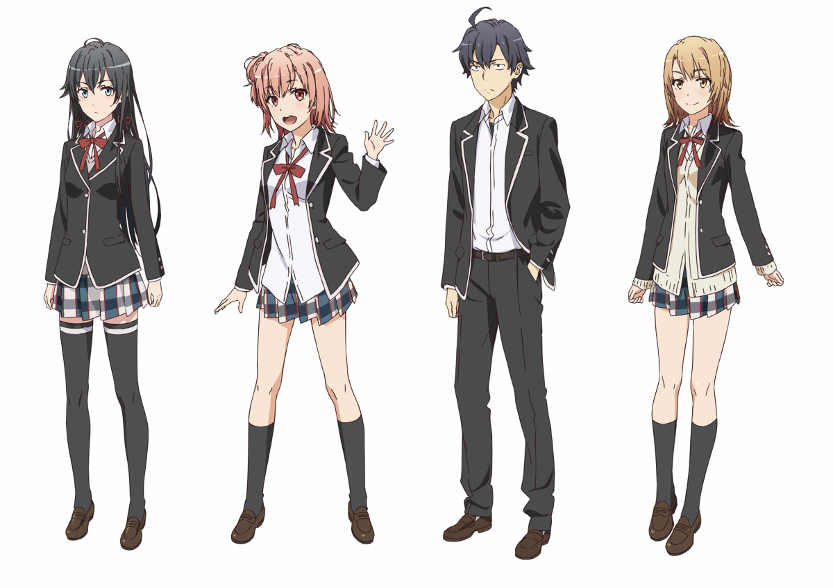 Oregairu 2 Character Designs Revealed haruhichan.com Yahari Ore no Seishun Love Comedy wa Machigatteiru. Zoku character designs 1