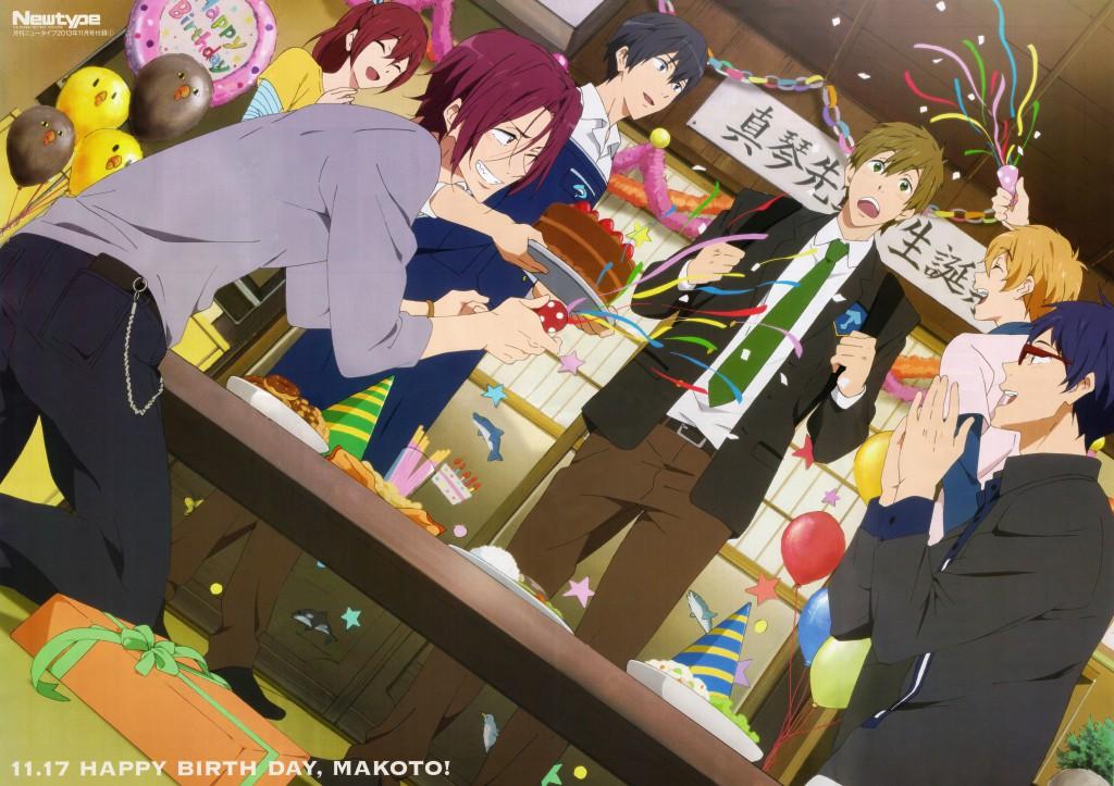 Otaku Celebrate the Birthday of Makoto Tachibana from Free! haruhichan.com Anime