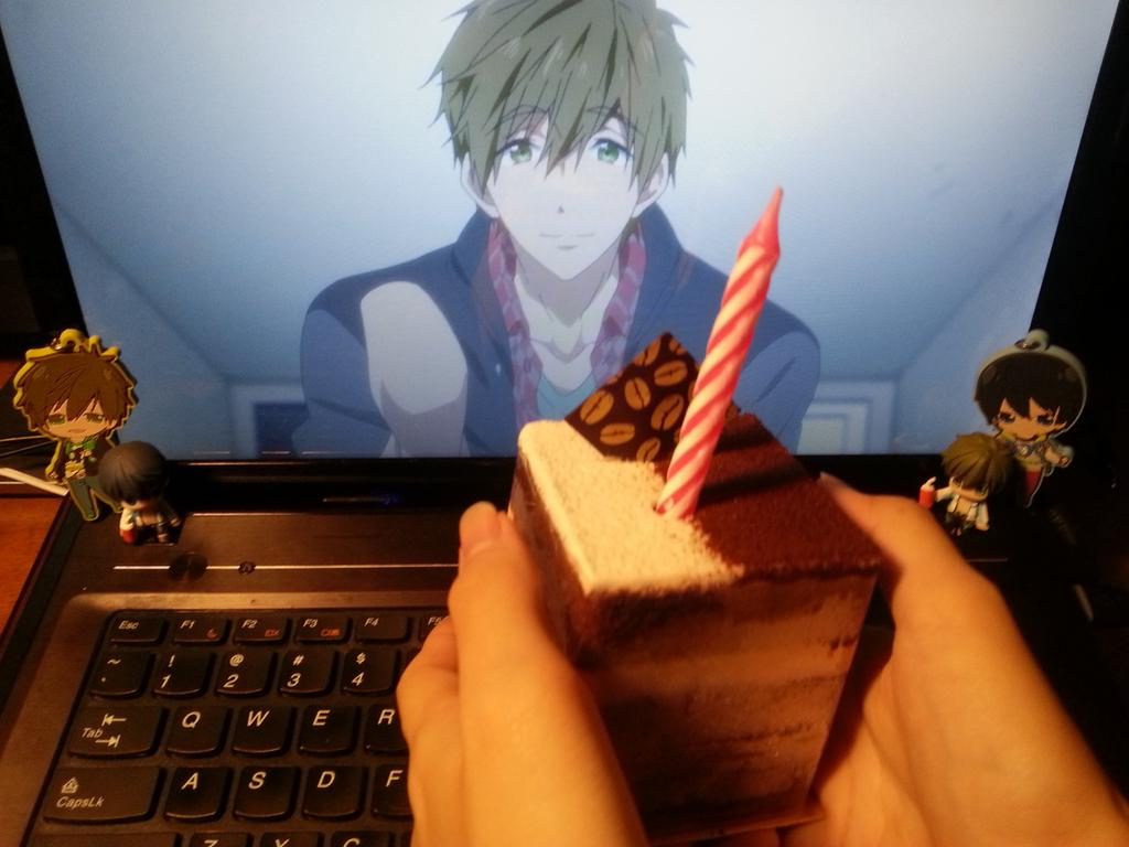Otaku Celebrate the Birthday of Makoto Tachibana from Free! haruhichan.com Makoto Tachibana birthday party  cake