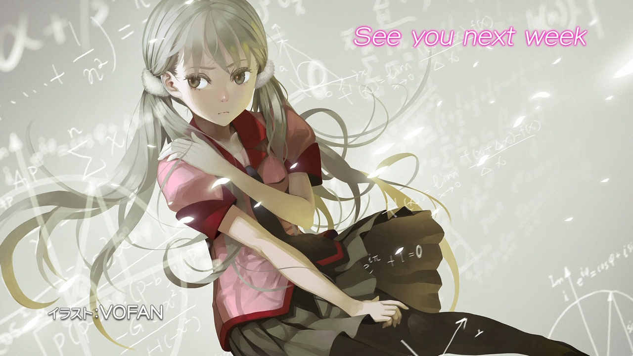 Owarimonogatari anime end card episode 0001