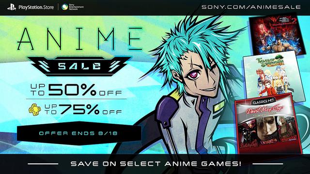 PSN Anime Sale Playstation Network