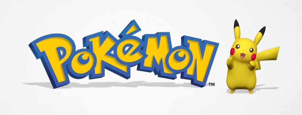 Pokémon logo and Pikachu art