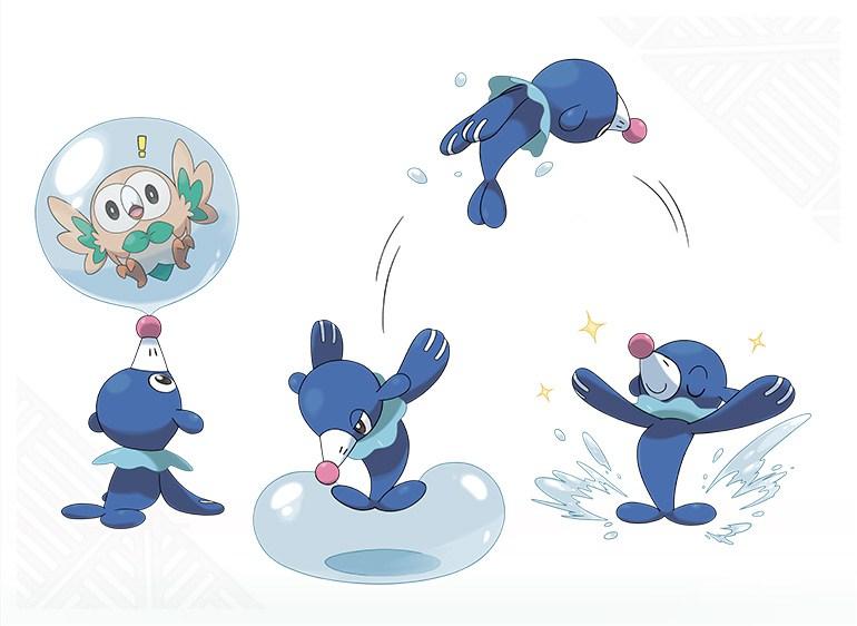Pokemon-Sun-Moon-Starter-Popplio-Move