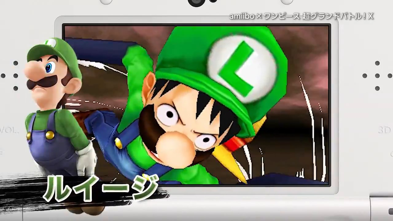 Power up One Piece Characters with New amiibo Costumes haruhichan.com Monkey D Luffy luigi