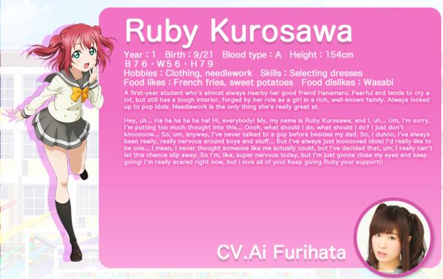 Ruby Kurosawa Character Introduction 3