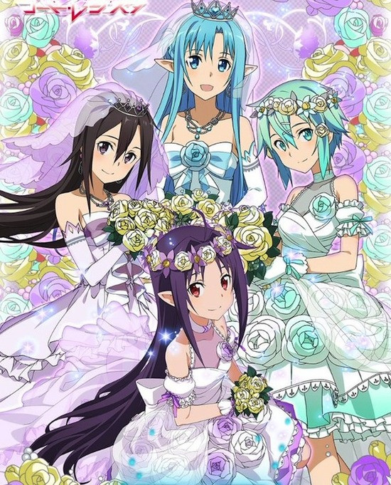 SAO Heroines Become Brides in Latest Sword Art Online Mobile Game Event