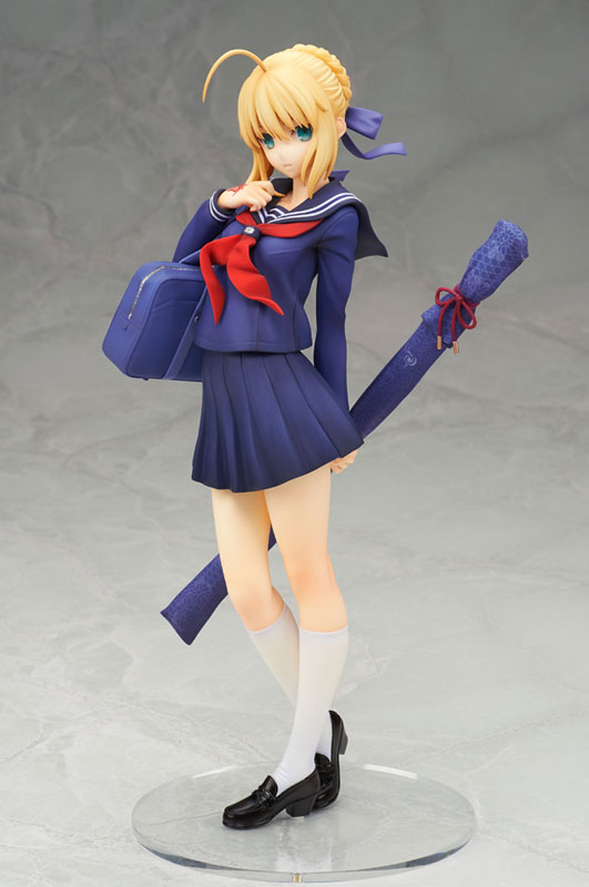 Saber Looks Cute as a Schoolgirl in New Figure