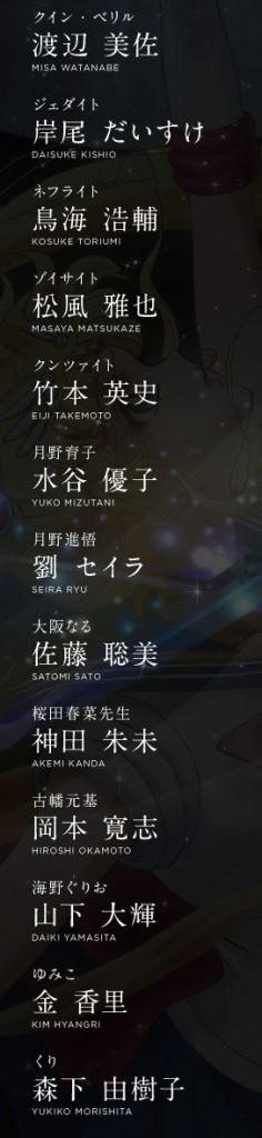 Sailor Moon Crystal Anime Cast