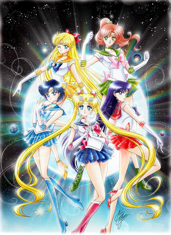 Sailor Moon Crystal Gets Redrawn in the Style of the Manga and Original Anime haruhichan.com sailor moon manga Marco Albiero