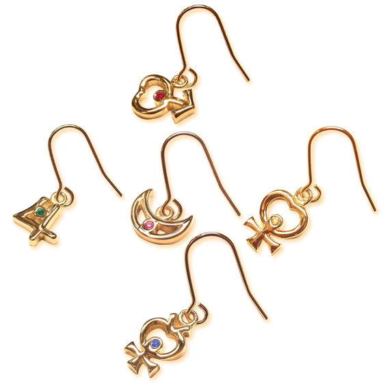 Sailor Moon Jewelry earring sets senshi symbol designs