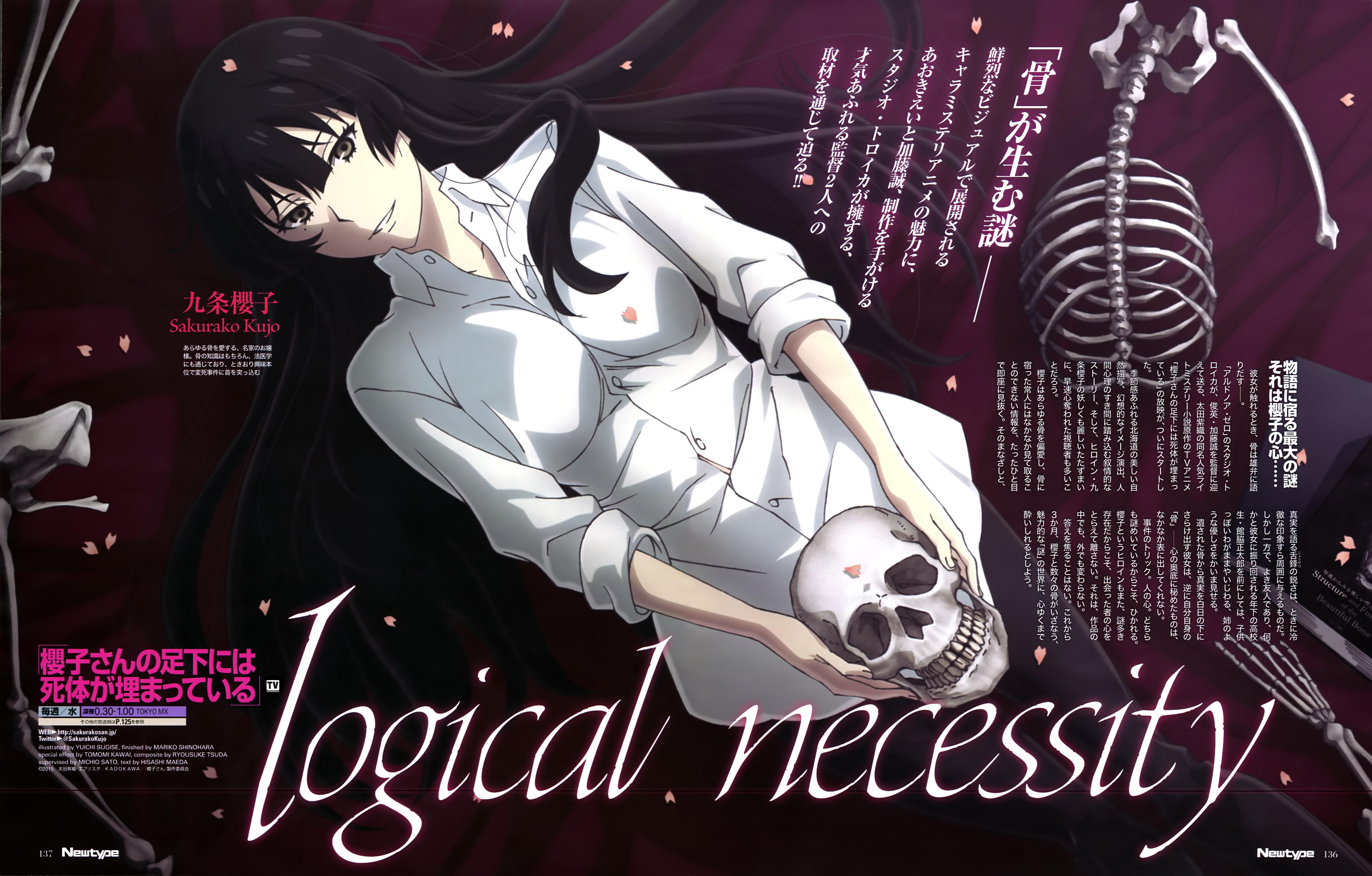 Sakurako-san no Ashimoto ni wa Shitai ga Umatteiru anime visual