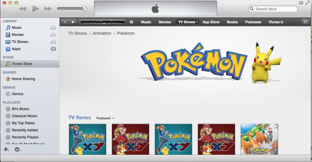 Screen Shot Pokémon iTunes iOS Apple