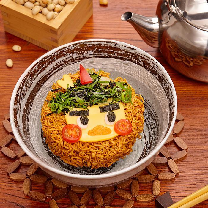 Setsubun Celebrated with Illustrations haruhichan.com Nissin Chikin Ramen