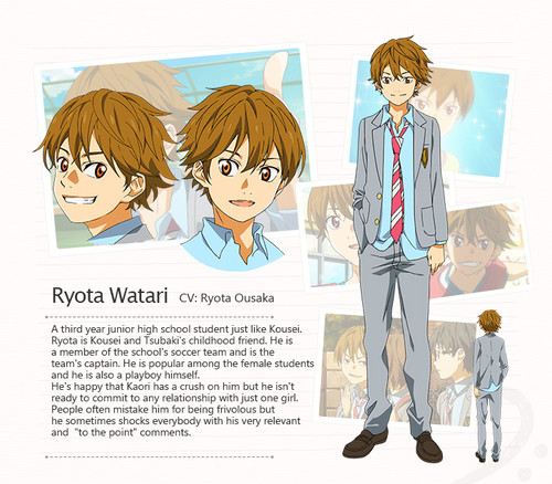 Shigatsu wa Kimi no Uso Ryota Watari haruhichan.com Your Lie in April anime