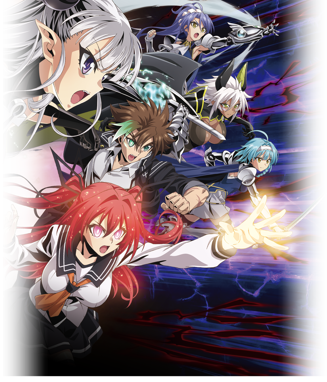 Shinmai Maou no Testament Burst anime visual 2