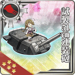 Ship Girls from KanColle Celebrate Valentines and Winter Event Is Live haruhichan.com Kantai Collection browser game Prototype 51cm Twin Cannon