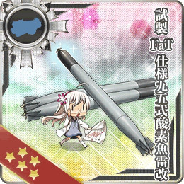 Ship Girls from KanColle Celebrate Valentines and Winter Event Is Live haruhichan.com Kantai Collection browser game Prototype FaT Type 95 Oxygen Torpedo Kai