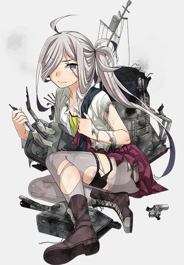 Ship Girls from KanColle Celebrate Valentines and Winter Event Is Live haruhichan.com Kantai Collection browser game ship girl Asashimo Yuugumo-class Destroyer 2