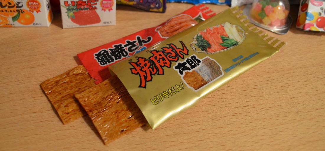 Snack Reviews December Japanese Snack Subscription from Shikibox Haruhichan.com Yakiniku-san taro and Kabayaki-san Taro