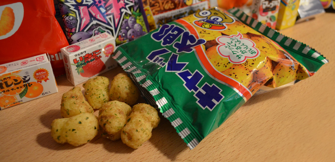 Snack Reviews December Japanese Snack Subscription from Shikibox Haruhichan.com round snack balls