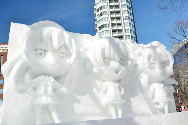Snow Miku Love Live Madoka Magica and More Ice Sculptures Displayed at the 66th Sapporo Snow Festival haruhichan.com Love Live! Kousaka Honoka Sonoda Umi Minami Kotori ice sculpture 10