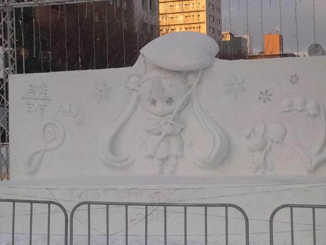 Snow Miku Love Live Madoka Magica and More Ice Sculptures Displayed at the 66th Sapporo Snow Festival haruhichan.com Snow Miku 4