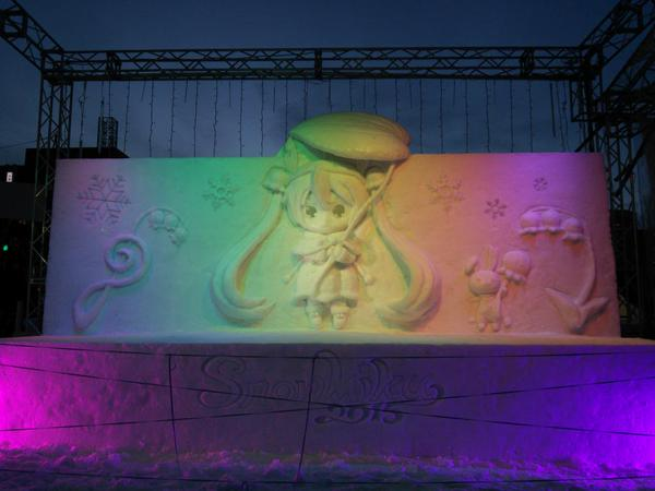 Snow Miku Love Live Madoka Magica and More Ice Sculptures Displayed at the 66th Sapporo Snow Festival haruhichan.com Snow Miku 5