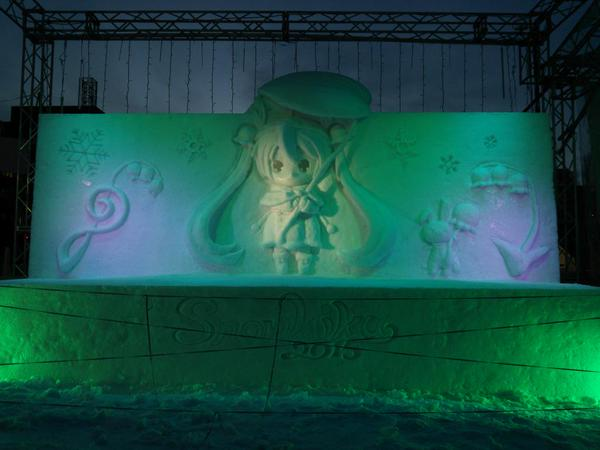 Snow Miku Love Live Madoka Magica and More Ice Sculptures Displayed at the 66th Sapporo Snow Festival haruhichan.com Snow Miku 7