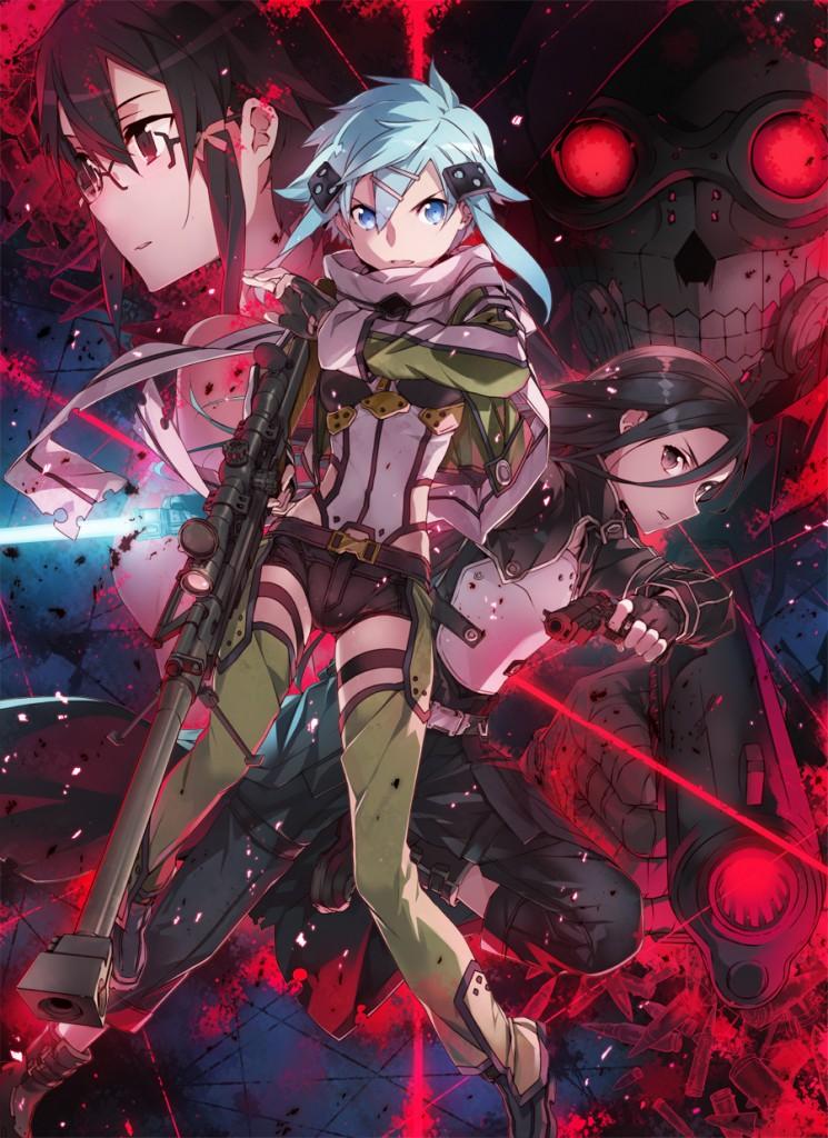 Sword-Art-Online-2-Sword-Art-Online-II-Shino-Sinon-Sinonon-Hecate-Asada-Kazuto-Kirito-The-Black-Swordsman-Beater-Kirigaya-Hecate-II