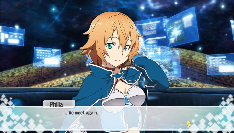 Philia, one of two new characters in Sword Art Online: Hollow Fragment.